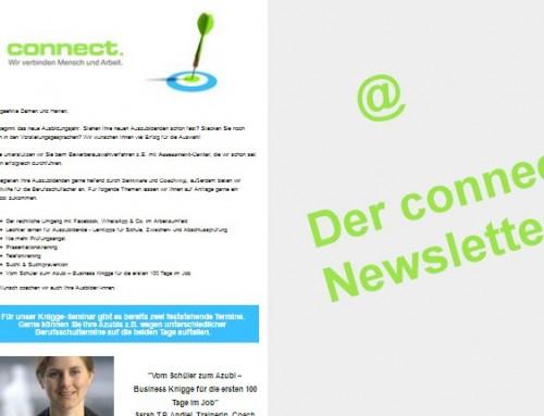 Immer auf dem Laufenden mit dem connect Newsletter!