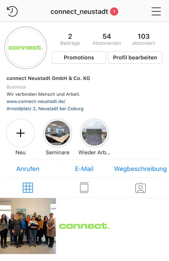 connect auf Instagram