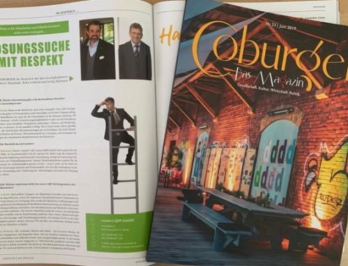 """Lösungssuche mit Respekt – Beitrag in """"Coburger – Das Magazin"""""""